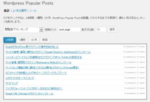 Popular Postsを1週間程、設定・運用しました