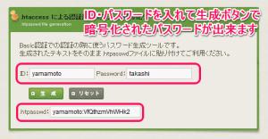 暗号化されたパスワードを作成